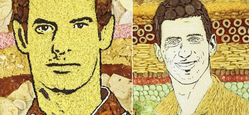 Wimbledon food art by Prudence Staite