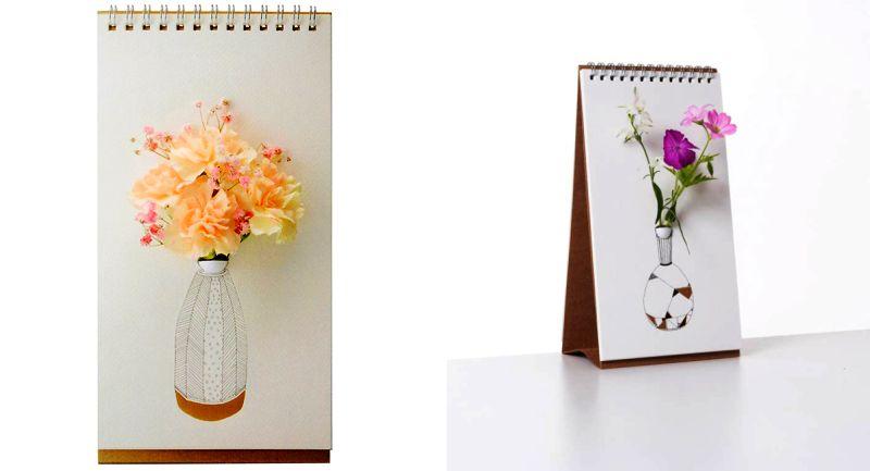 table top flip vase