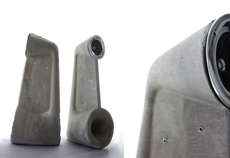 Concrete speaker by Shmuel Linski