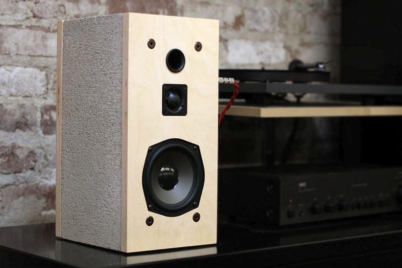 Cinder concrete Speaker by Daniel
