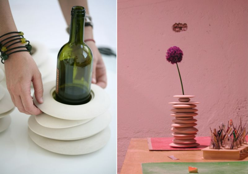 2 Hulahoop vase by Giopato & Coombes