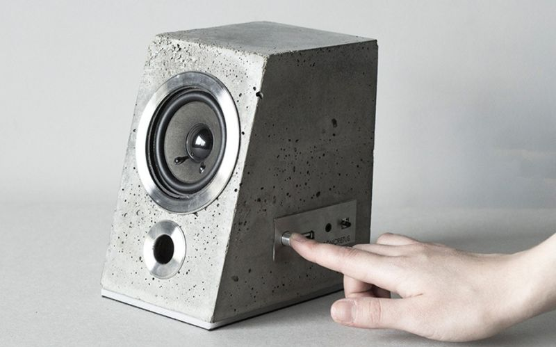 Satori & Scout's Concrete speaker