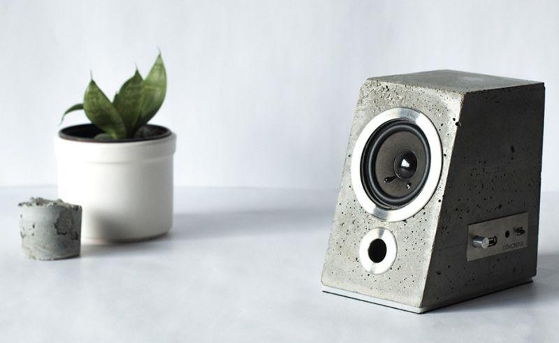 Concrete speaker by Satori & Scout