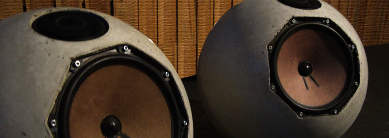 Spherical Concrete Speakers