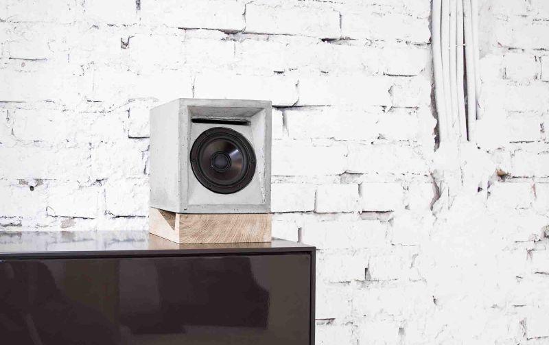 Concrete speaker by Marlen Häselbarth