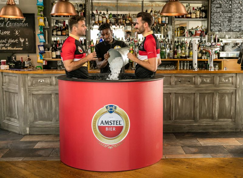 Amstel's pop-up pub