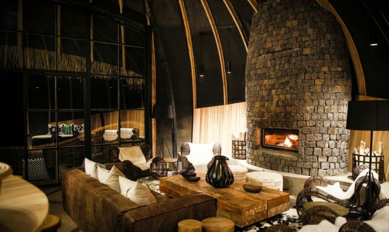 Bisate Lodge living room