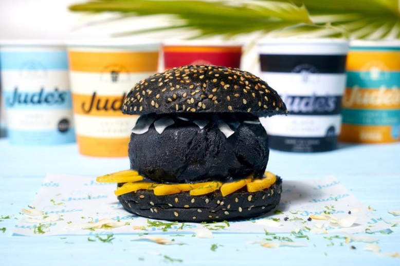 Feed your dark souls with black burger at Pear Tree Café