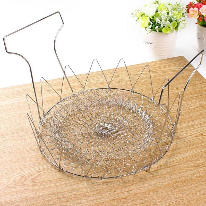 Foldable chef's basket