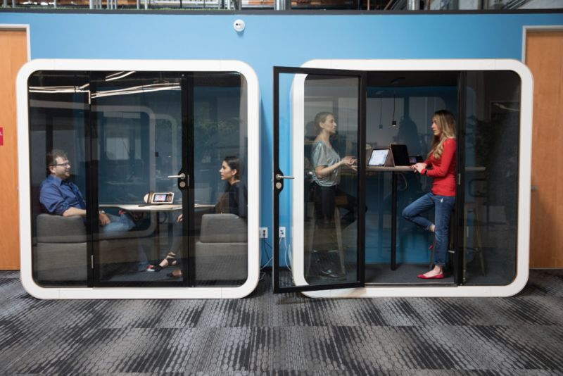 Framery Q meeting pod provides Comfortable meeting space