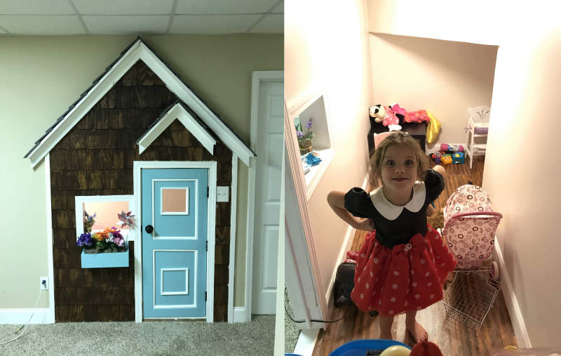 Georgia dad builds under stairs playhouse for his little daughter