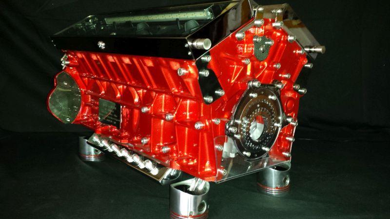 Jaguar Red watch winder watch in motion