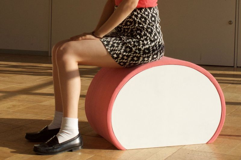 Kamaboko-inspired chair