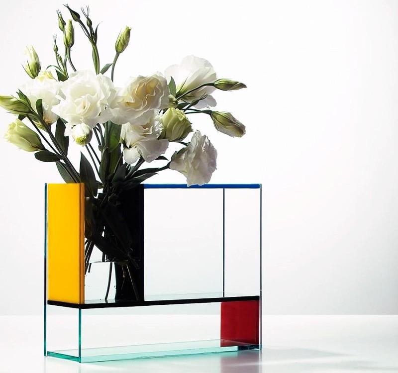 Mondri vase by Frank Kerdil