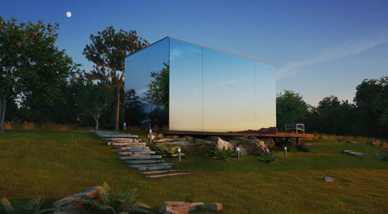 OOD-mirror-cabin-can-be-set-up-in-8-hours-as-a-vacation-rental