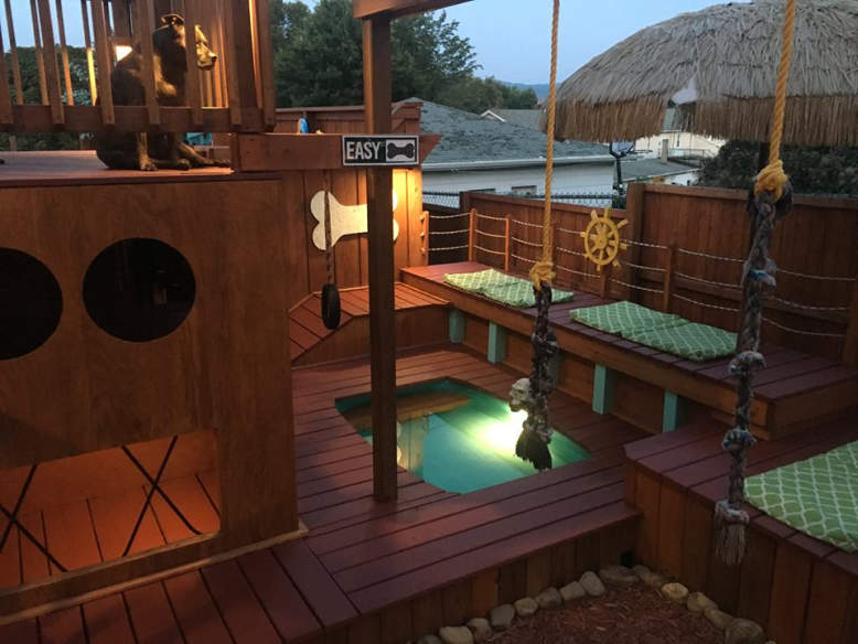 Man Builds Expansive Dog House Complete