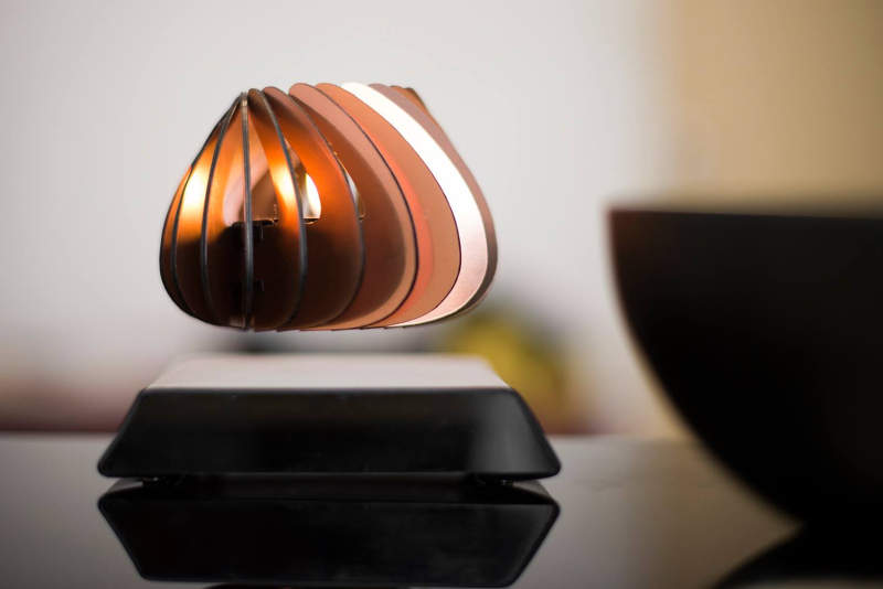 Spirale, the world's first levitating candle holder defies gravity