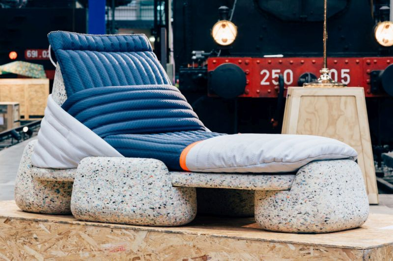 Wasting Time Daybed from Recycled PET Plastic by Patricia Urquiola