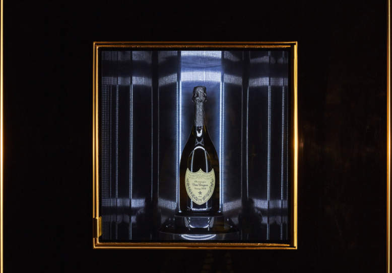 World's first Dom Pérignon vending machine at Vue de Monde, Melbourne
