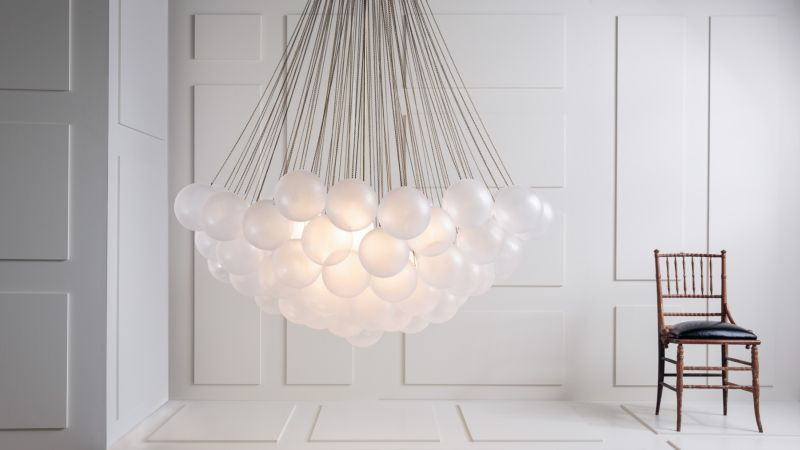 cloud-shaped pendant lamp by Apparatus design Studio