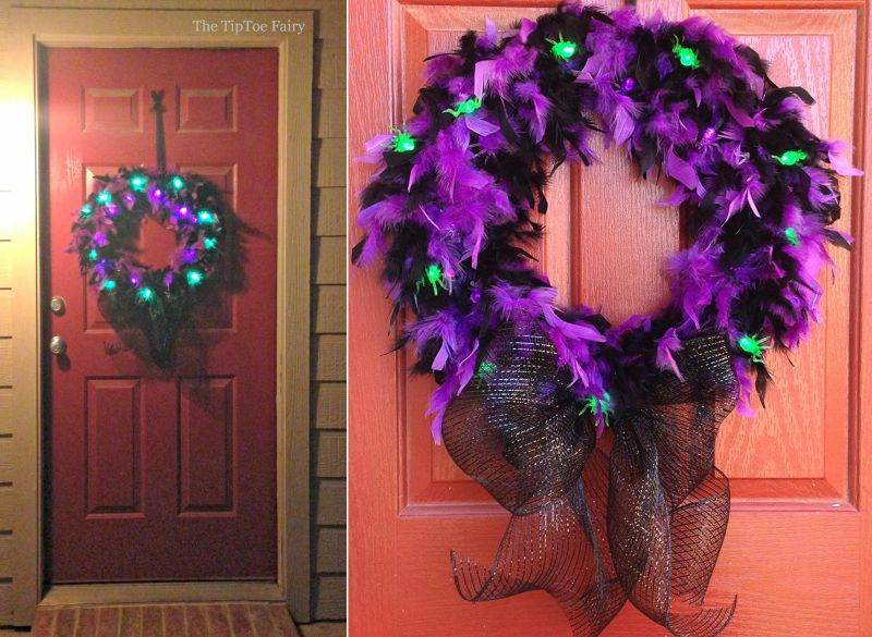 glam spider wreath