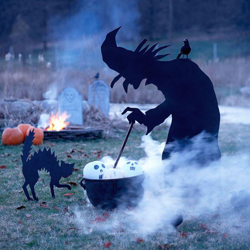 Witch in Garden