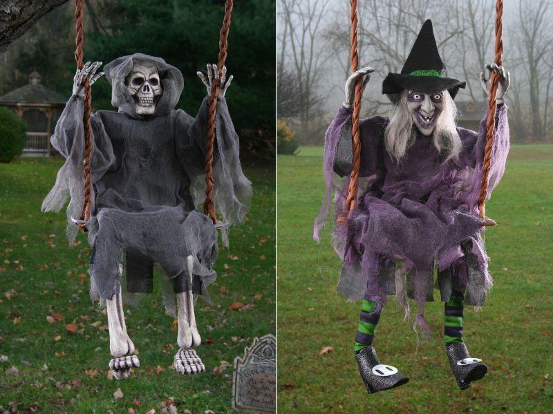 swing for your ghost friend in backyard