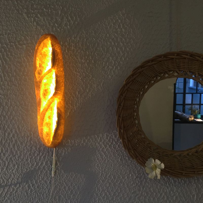 Pampshade lamps by Yukiko Morita are made with bread
