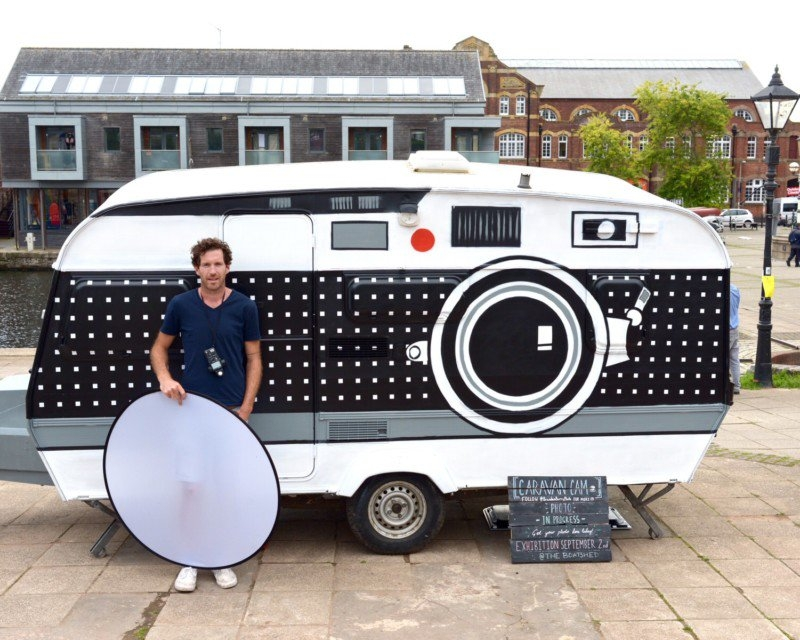 Brendan Berry bring back the old time with his Caravan camera