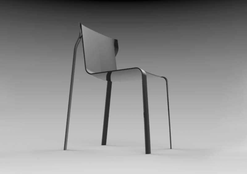 Joachim Froment designs 0.6 Chair to minimize wood consumption