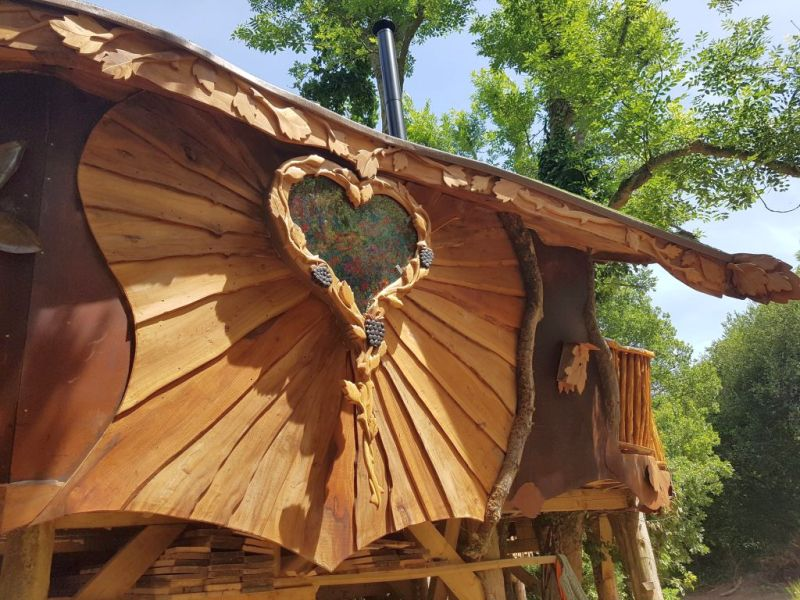 Piggledy Treehouse Blackberry Wood campsite in Ditchling