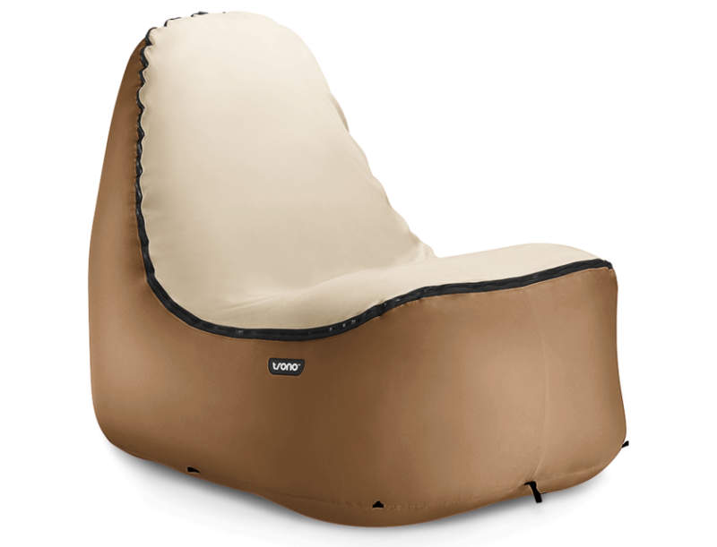 Trono inflatable chair blows up in seconds without an air pump