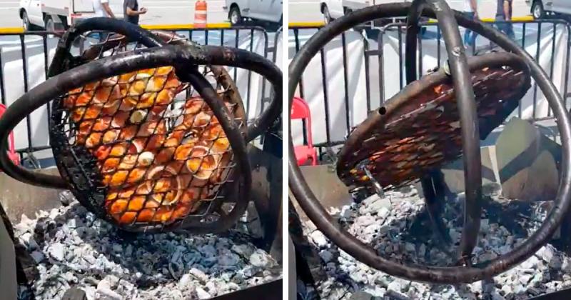 Gyroscope BBQ grill
