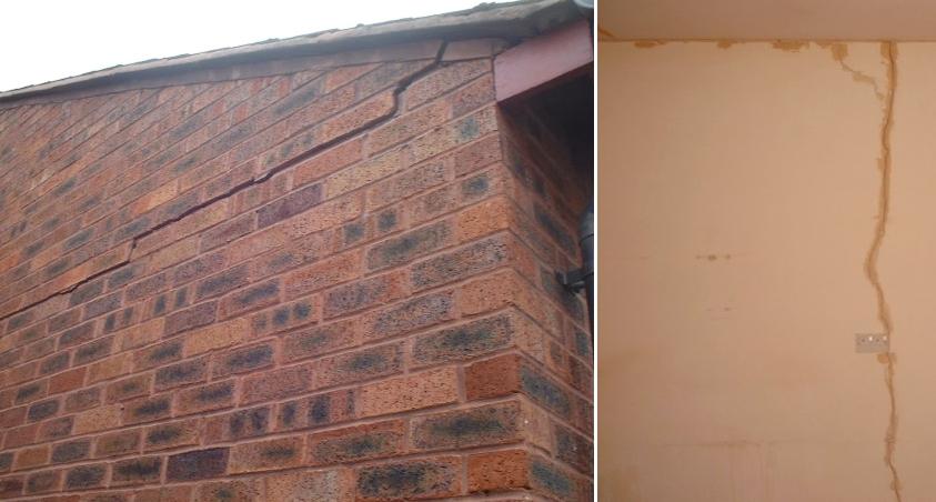 Cracks in walls of home