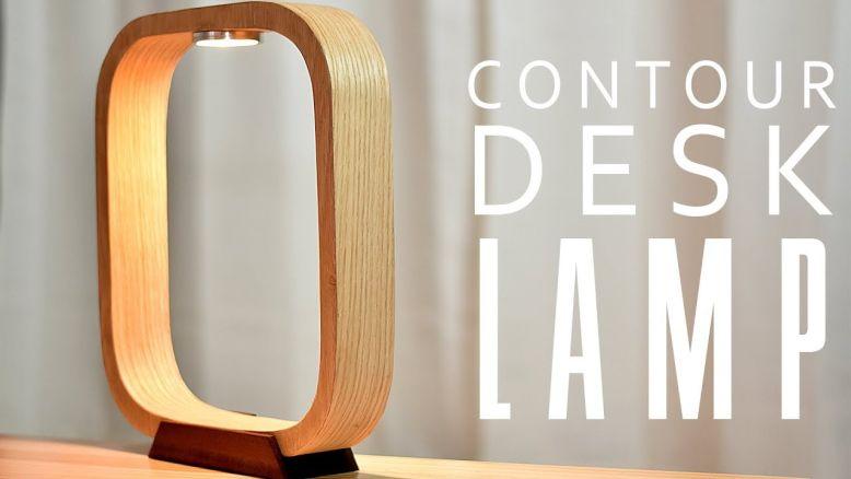 DIY contour table lamp by Glen Scott