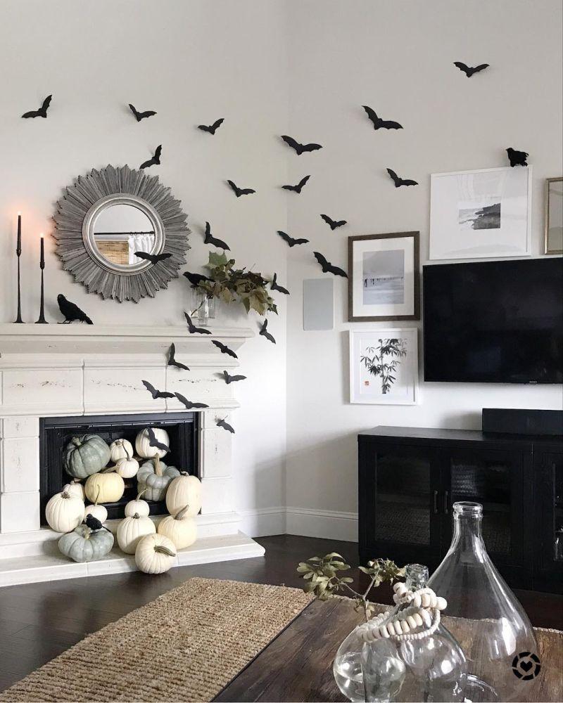 Living room Halloween decoration ideas - pumpkin patch
