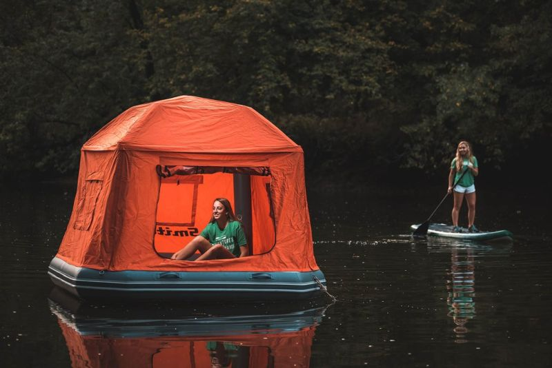 Now you can set up a floating camp on water with SmithFly's Shoal tent