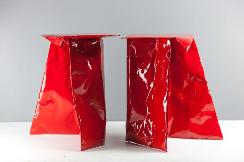 Paper plastic tables by Richard Lowry are stronger than you think