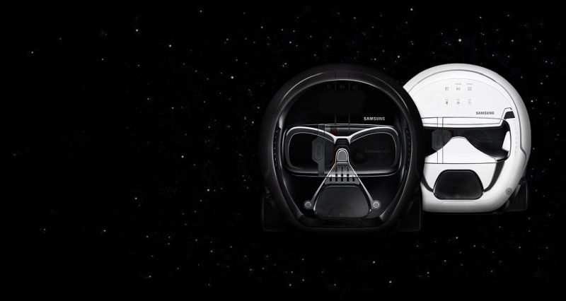 Samsung's Darth Vader robot vacuum cleaner and Stormtrooper robot vacuum cleaner