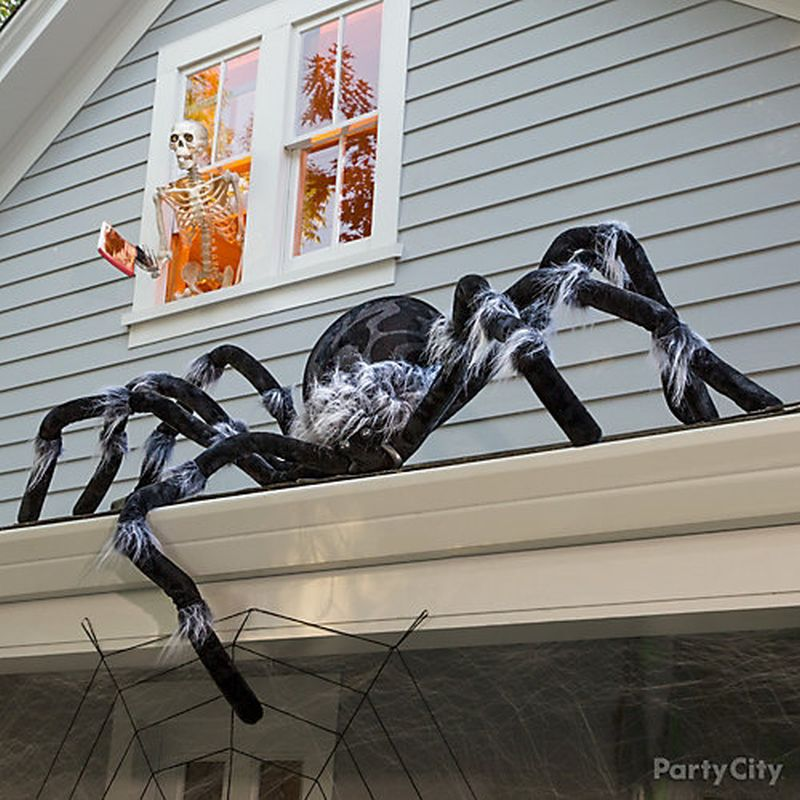 Spider on a roof for Halloween