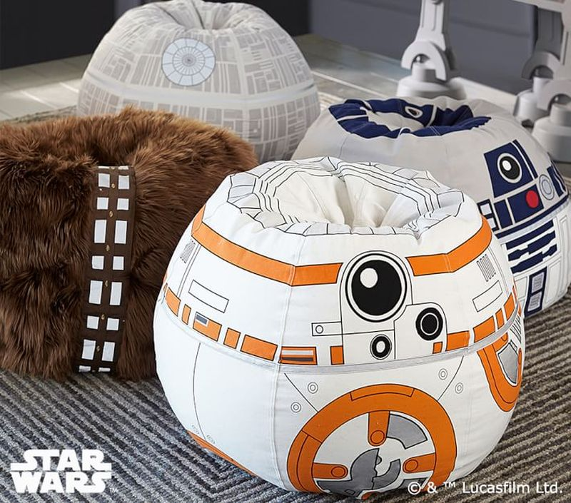 This Chewbacca bean bag chair is perfect for Star Wars fans