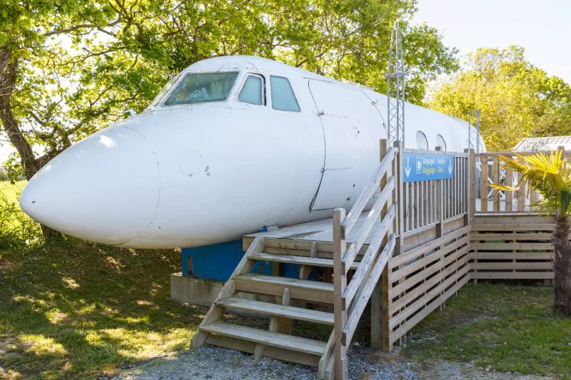 This converted airplane home is most weird Airbnb rental so far