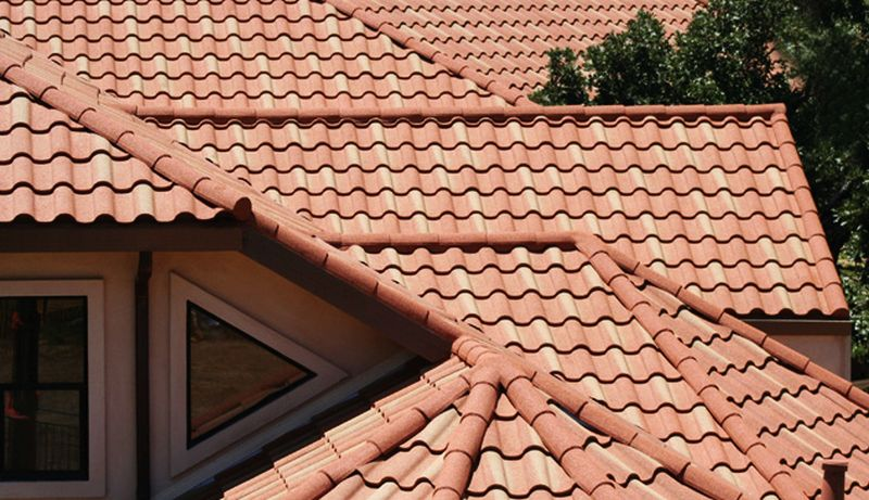 Tile roofing for house