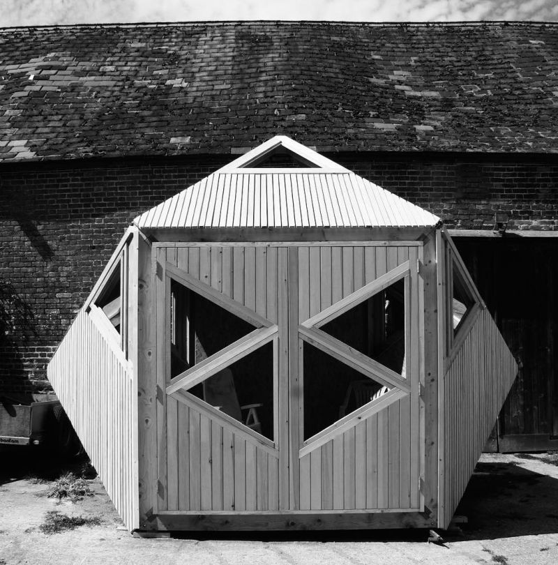Tripod flat pack garden shed by Woodwork Designs