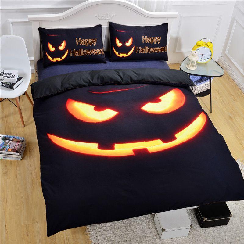 Halloween bedsheet for bedroom