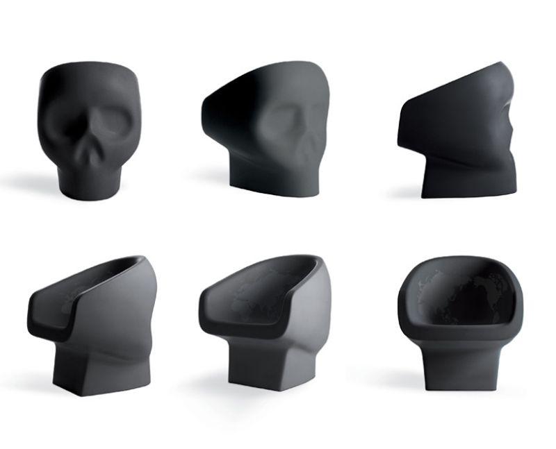 jolly roger skull chair