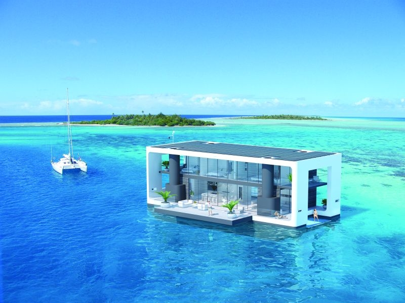 Arkup's luxury floating house can survive hurricanes