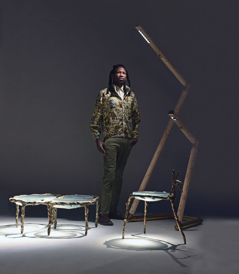 Atang Tshikare and Okha collaborate to create limited edition glass furniture