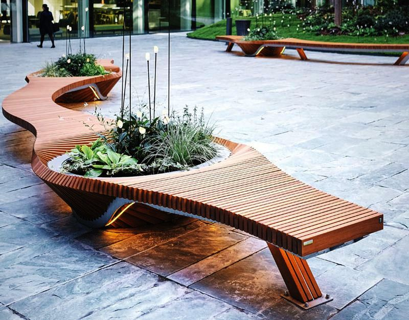 Botanical Twist bench by Alexis Tricoire for TF Urban