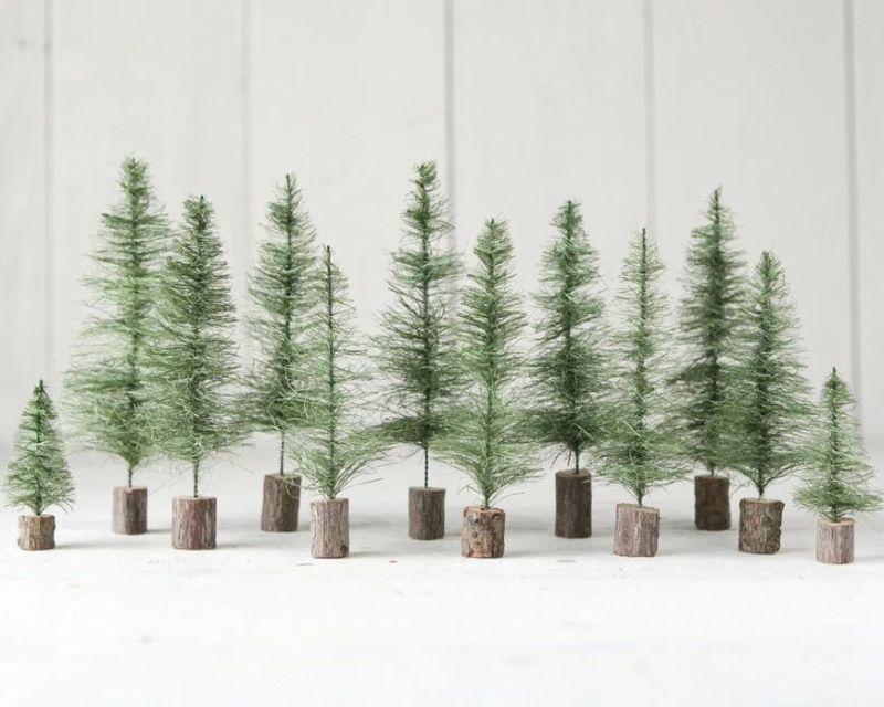 Sisal Bottle Brush Christmas Trees